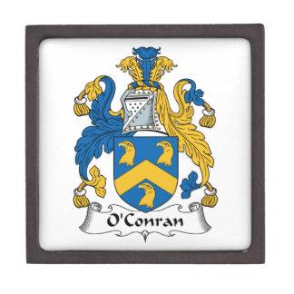Escudo de la familia de O'Conran Caja De Joyas De Calidad