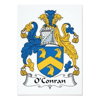 Escudo de la familia de O'Conran Invitación 12,7 X 17,8 Cm