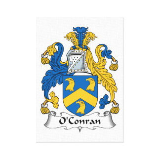 Escudo de la familia de O'Conran Lona Envuelta Para Galerías