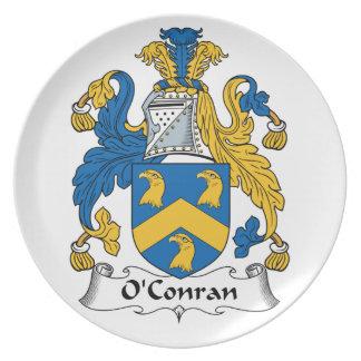 Escudo de la familia de O'Conran Platos