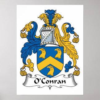 Escudo de la familia de O'Conran Posters