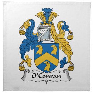 Escudo de la familia de O'Conran Servilleta Imprimida