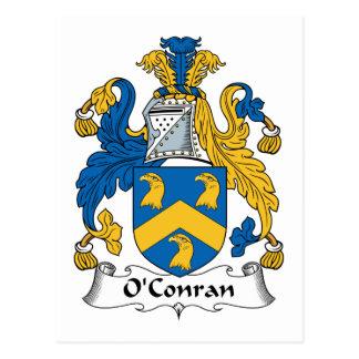 Escudo de la familia de O'Conran Tarjetas Postales