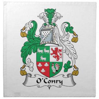 Escudo de la familia de O'Conry Servilletas De Papel