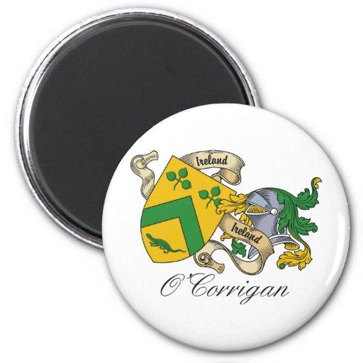Escudo de la familia de O'Corrigan Imanes Para Frigoríficos