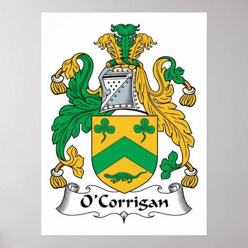 Escudo de la familia de O'Corrigan Póster