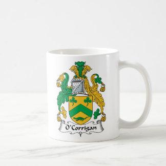 Escudo de la familia de O'Corrigan Tazas De Café