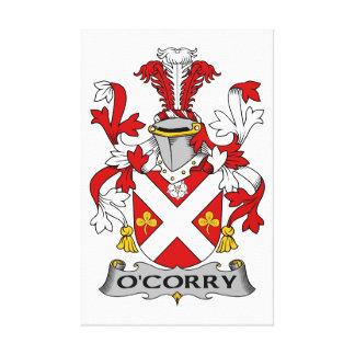 Escudo de la familia de O'Corry Impresiones En Lona
