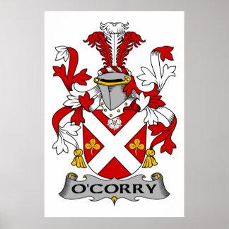 Escudo de la familia de O'Corry Impresiones