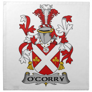 Escudo de la familia de O'Corry Servilletas