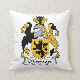 Escudo de la familia de O'Cosgrave Almohadas