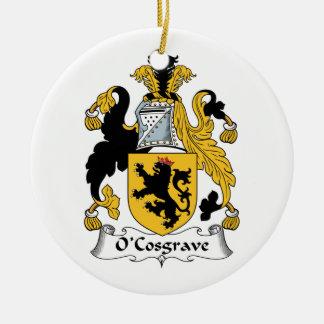 Escudo de la familia de O'Cosgrave Adorno Redondo De Cerámica
