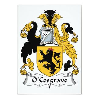 """Escudo de la familia de O'Cosgrave Invitación 5"""" X 7"""""""
