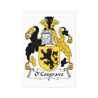 Escudo de la familia de O'Cosgrave Lona Envuelta Para Galerias