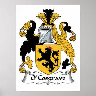 Escudo de la familia de O'Cosgrave Póster