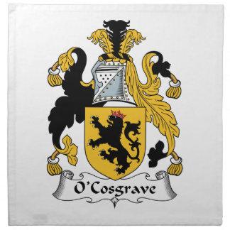 Escudo de la familia de O'Cosgrave Servilleta De Papel