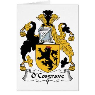 Escudo de la familia de O'Cosgrave Tarjeta De Felicitación