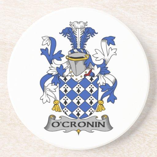 Escudo de la familia de O'Cronin Posavasos Diseño