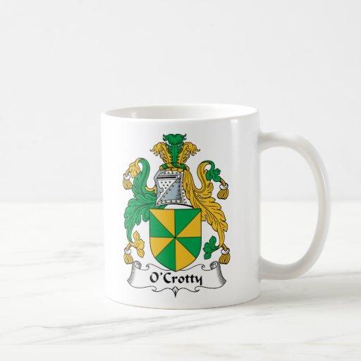 Escudo de la familia de O'Crotty Tazas