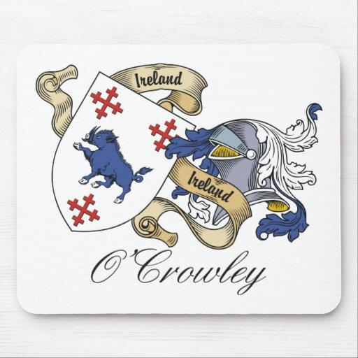 Escudo de la familia de O'Crowley Alfombrillas De Ratones