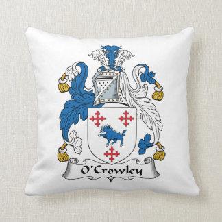 Escudo de la familia de O'Crowley Almohada