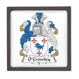 Escudo de la familia de O'Crowley Caja De Joyas De Calidad