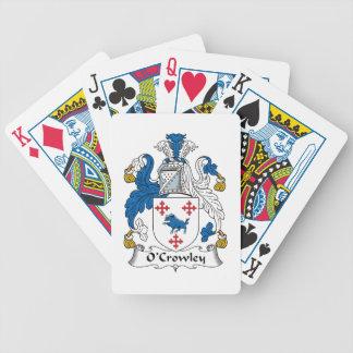 Escudo de la familia de O'Crowley Baraja Cartas De Poker