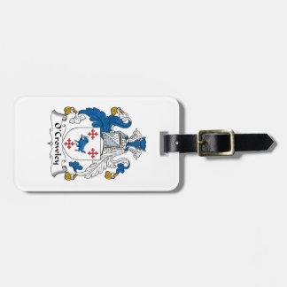 Escudo de la familia de O'Crowley Etiquetas Bolsas