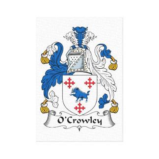 Escudo de la familia de O'Crowley Lona Envuelta Para Galerias
