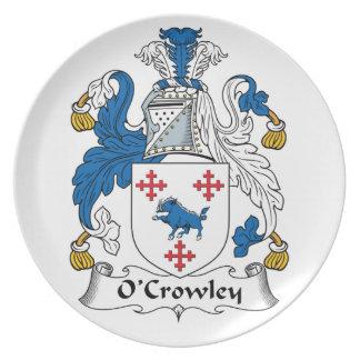 Escudo de la familia de O'Crowley Plato De Cena