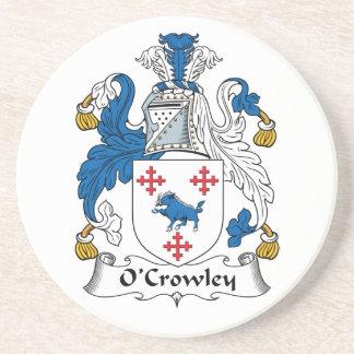Escudo de la familia de O'Crowley Posavasos Manualidades