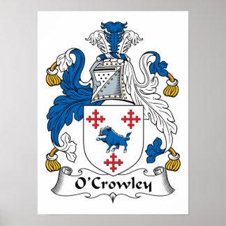 Escudo de la familia de O'Crowley Poster