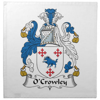Escudo de la familia de O'Crowley Servilletas Imprimidas