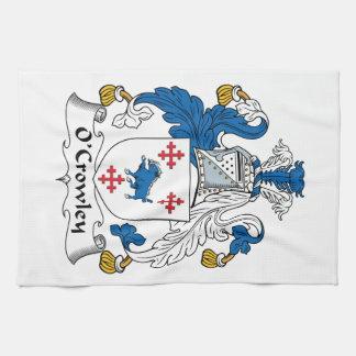 Escudo de la familia de O'Crowley Toallas De Mano