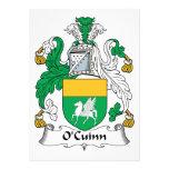 Escudo de la familia de O'Cuinn Invitacion Personalizada