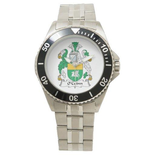 Escudo de la familia de O'Cuinn Relojes
