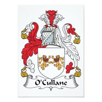 Escudo de la familia de O'Cullane Invitación 12,7 X 17,8 Cm