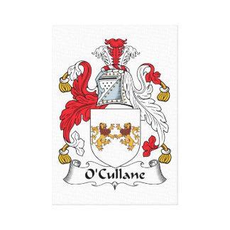 Escudo de la familia de O'Cullane Lona Envuelta Para Galerias