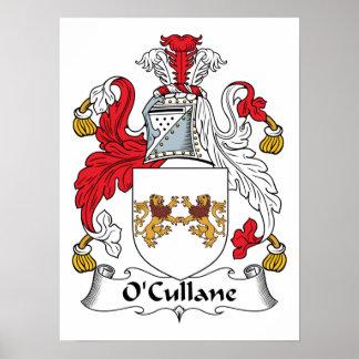 Escudo de la familia de O'Cullane Posters