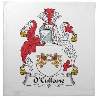 Escudo de la familia de O'Cullane Servilleta Imprimida