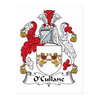 Escudo de la familia de O'Cullane Tarjetas Postales