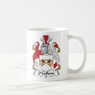 Escudo de la familia de O'Cullane Tazas De Café