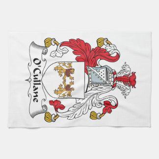 Escudo de la familia de O'Cullane Toalla De Cocina