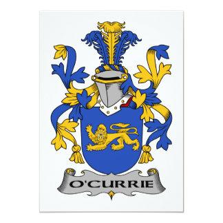 """Escudo de la familia de O'Currie Invitación 5"""" X 7"""""""