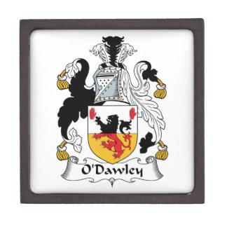 Escudo de la familia de O'Dawley Caja De Joyas De Calidad