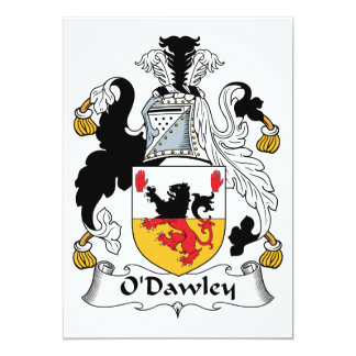 """Escudo de la familia de O'Dawley Invitación 5"""" X 7"""""""