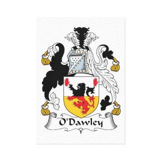Escudo de la familia de O'Dawley Lienzo Envuelto Para Galerías