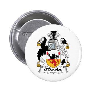 Escudo de la familia de O'Dawley Pin Redondo De 2 Pulgadas