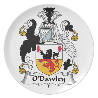 Escudo de la familia de O'Dawley Plato De Cena