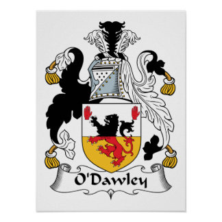 Escudo de la familia de O'Dawley Póster